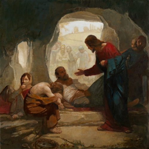 Christ among the lepers